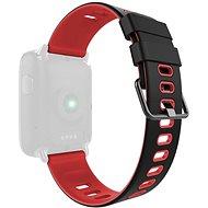 IMMAX pre hodinky SW9, čierno-červený - Remienok