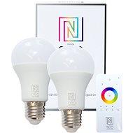 Immax Neo LED E27 A60 8,5 W 2 ks + ovládač - LED žiarovka