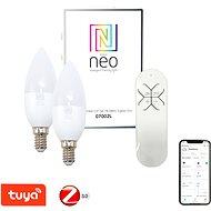 Immax Neo LED E14/230 V C37 5W 2 ks + ovládač - LED žiarovka