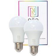 Immax NEO Smart sada 2× žiarovka LED E27 9W farebná a teplá biela, stmievateľná, Zigbee 3.0 - LED žiarovka