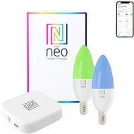 Immax NEO SUPRISE Smart sada BRIDGE PRO, 2× žiarovka E14, 5W, farebná stmievateľná - LED žiarovka