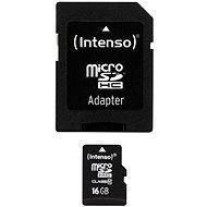 Intenso MicroSDHC 16 GB Class 10 + SDHC adaptér - Pamäťová karta