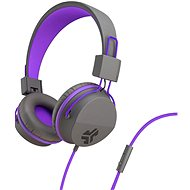 JLAB JBuddies Studio Over-Ear Folding Kids Headphones, Grey/Purple - Headphones