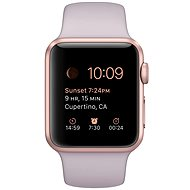 Apple Watch Šport 38mm Ružovo zlatý hliník s levanduľovým remienkom - Smart hodinky