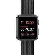 Apple Watch Sport 38 mm Kozmicky sivý hliník s čiernym remienkom z tkaného nylónu - Smart hodinky