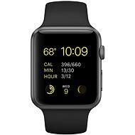 Apple Watch Šport 42mm Vesmírne sivý hliník s čiernym remienkom - Smart hodinky
