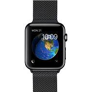 Apple Watch 38mm Vesmírne čierna nerez oceľ s vesmírne čiernym milánskym ťahom - Smart hodinky
