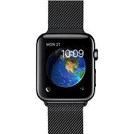 Apple Watch 38 mm Kozmicky čierna antikorová oceľ s kozmicky čiernou milánskou slučkou - Smart hodinky