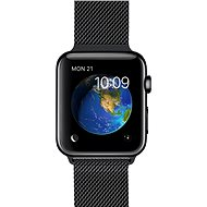 Apple Watch 42mm Vesmírne čierna nerez oceľ s čiernym milánskym ťahom - Smart hodinky