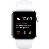 Apple Watch Series 1 38 mm Strieborný hliník s bielym športovým remienkom - Smart hodinky