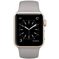Apple Watch Series 1 38mm Zlatý hliník s cementovo šedým športovým remienkom - Smart hodinky