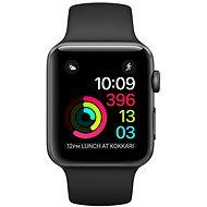 Apple Watch Series 1 38mm Vesmírne šedý hliník s čiernym športovým remienkom - Smart hodinky