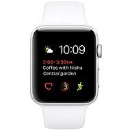 Apple Watch Series 1 42mm Strieborný hliník s bielym športovým remienkom - Smart hodinky