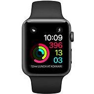 Apple Watch Series 1 42mm Vesmírne šedý hliník s čiernym športovým remienkom - Smart hodinky