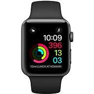 Apple Watch Series 2 38 mm Vesmírnešedý hliník s čiernym športovým remienkom - Smart hodinky