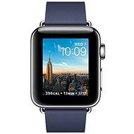 Apple Watch Series 2 38 mm Nerez oceľ s polnočne modrým remienkom s modernou prackou - veľkým - Smart hodinky