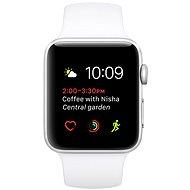 Apple Watch Series 2 42 mm Strieborný hliník s bielym športovým remienkom - Smart hodinky
