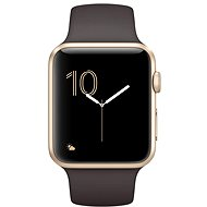 Apple Watch Series 2 42 mm Zlatý hliník s kakaovohnedým športovým remienkom - Smart hodinky