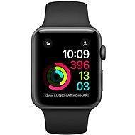 Apple Watch Series 2 42 mm Vesmírne sivý hliník s čiernym športovým remienkom - Smart hodinky