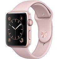 Apple Watch Series 2 42mm Ružovo zlatý hliník s pieskovo ružovým športovým remienkom - Smart hodinky