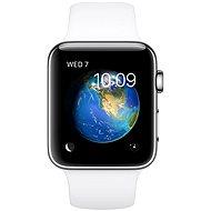 Apple Watch Series 2 42 mm Nehrdzavejúca oceľ s bielym športovým remienkom - Smart hodinky