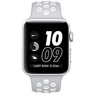 Apple Watch Series 2 Nike+ 42 mm Strieborný hliník s matnestrieborným/bielym športovým remienkom Nike - Smart hodinky