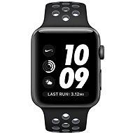 Apple Watch Series 2 Nike+ 42 mm Vesmírnesivý hliník s čiernym/chladnešedým športovým remienkom Nike - Smart hodinky
