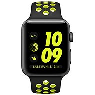 Apple Watch Series 2 Nike+ 42 mm Vesmírne sivý hliník s čiernym/Volt športovým remienkom Nike - Smart hodinky