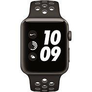 Apple Watch Series 2 Nike+ 42mm Vesmírne šedý hliník s antracitovo čiernym športovým remienkom Nike - Smart hodinky