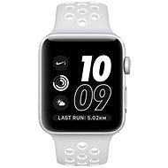 Apple Watch Series 2 Nike+ 42mm Strieborný hliník s platinovo bielym športovým remienkom Nike - Smart hodinky
