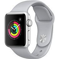 Apple Watch Series 3 38 mm GPS Strieborný hliník s hmlovo sivým športovým remienkom - Smart hodinky