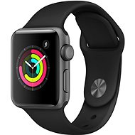Apple Watch Series 3 38mm GPS Space Grey Aluminium with Black Sports Strap - Smartwatch