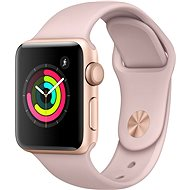 Apple Watch Series 3 38 mm GPS Zlatý hliník s pieskovo ružovým športovým remienkom