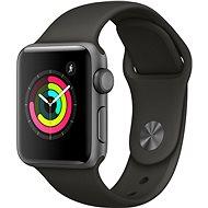 Apple Watch Series 3 38 mm GPS Vesmírne sivý hliník so sivým športovým remienkom - Smart hodinky