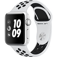 Apple Watch Series 3 Nike+ 38 mm GPS Strieborný hliník s platinovým/sivým športovým remienkom Nike - Smart hodinky