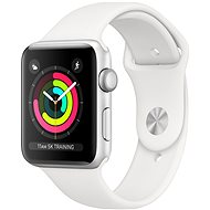 Apple Watch Series 3 42 mm GPS Strieborný hliník s bielym športovým remienkom