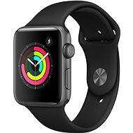 Apple Watch Series 3 42 mm GPS Vesmírne sivý hliník s čiernym športovým remienkom - Smart hodinky
