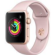 Apple Watch Series 3 42 mm GPS Zlatý hliník s pieskovo ružovým športovým remienkom - Smart hodinky