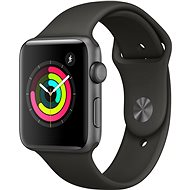 Apple Watch Series 3 42mm GPS Vesmírne sivý hliník so sivým športovým remienkom - Smart hodinky