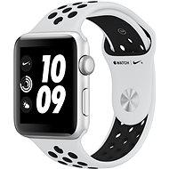 Apple Watch Series 3 Nike+ 42 mm GPS Strieborný hliník s platinovým/sivým športovým remienkom Nike - Smart hodinky
