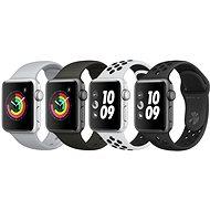 Apple Watch Series 3 Nike+ 38 mm GPS Vesmírne sivý hliník s antracitovým športovým remienkom Nike - Smart hodinky