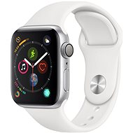Apple Watch Series 4 40mm Silver Aluminium Case with White Sport Band - Smartwatch