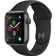 Apple Watch Series 4 40mm Space Grey Aluminium Case with Black Sport Band - Smartwatch