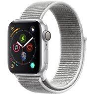 Apple Watch Series 4 40 mm Strieborný hliník s mušľovo bielym prevliekacím športovým remienkom - Smart hodinky