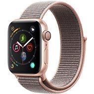 Apple Watch Series 4 40 mm Zlatý hliník s pieskovo ružovým prevliekacím športovým remienkom - Smart hodinky