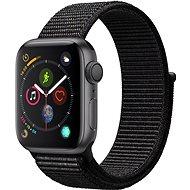 Apple Watch Series 4 40mm Vesmírne čierny hliník s čiernym prevliekacím športovým remienkom - Smart hodinky