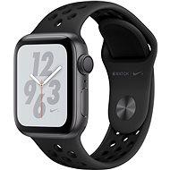 Apple Watch Series 4 Nike+ 40mm Vesmírne čierny hliník s antracitovým/čiernym športovým remienkom Nike - Smart hodinky