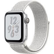 Apple Watch Series 4 Nike+ 40mm Strieborný hliník so snehovo bielym prevliekacím športovým remienkom Nike - Smart hodinky