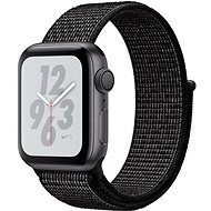 Apple Watch Series 4 Nike+ 40mm Vesmírne čierny hliník s čiernym prevliekacím športovým remienkom Nike - Smart hodinky