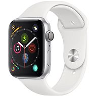 Apple Watch Series 4 44mm Strieborný hliník s bielym športovým remienkom - Smart hodinky